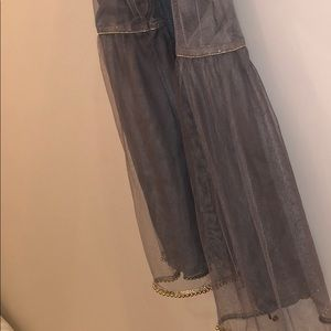 Other - Silver Beaded Gharara Suit Grey Net Duppata